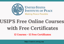 USIP Free Online Courses with Free Certificates